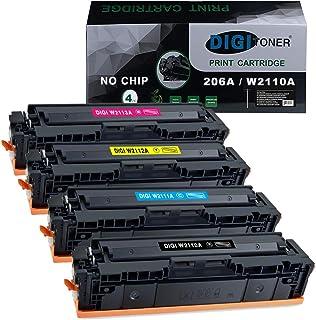 DIGItoner Compatible 206A W2110A W2111A W2112A W2113A Toner Cartridges Replacement for HP Color Laserjet Pro M255dw MFP M2...