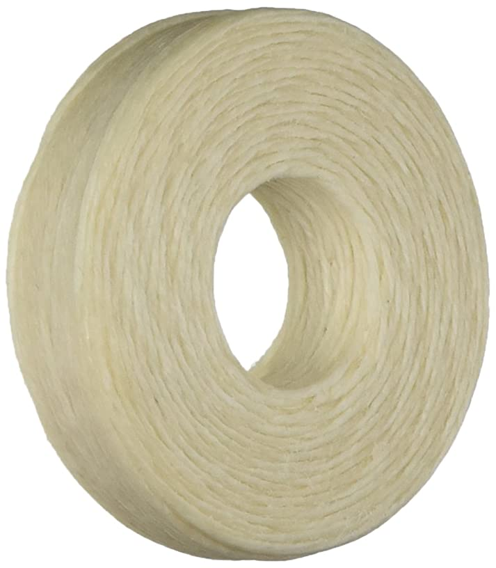 Beadaholique WLNA Waxed Irish Linen 1mm Necklace or Knotting Cord, 50 yd, Natural Beige
