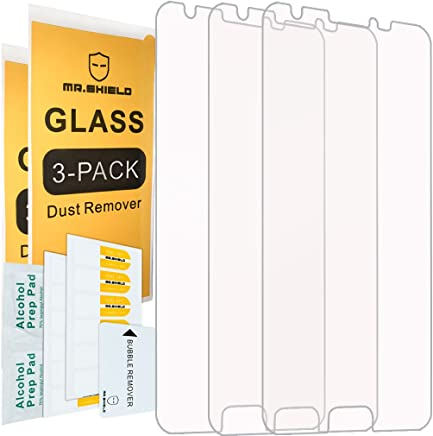 [3-Pack]- Mr.Shield for SamsungGalaxyJ3Emerge [Tempered Glass] Screen Protector [0.3mm Ultra Thin 9H Hardness 2.5D Round Edge] with Lifetime Replacement Warranty