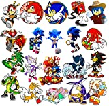 GTOTd Stickers for Sonic The Hedgehog ( 20Pcs Large Size)Gifts Sonic Party Supplies Merch Toys Decals Vinyls for Laptop Waterbottle Cars Collection Skateboard Teens Girls