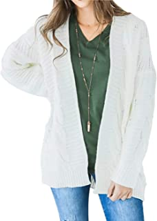 Women's Long Sleeve Open Front Chunky Oversized Knitted Sweater Cardigan