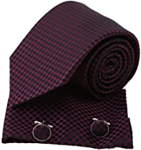 Epoint Men`s Fashion Designer Goods Classic Silk Checkers Mens Necktie Multicolors