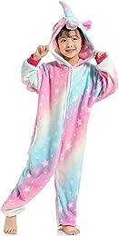 Enfants Adulte Unisexe Licorne Onesie Pyjama Hallo