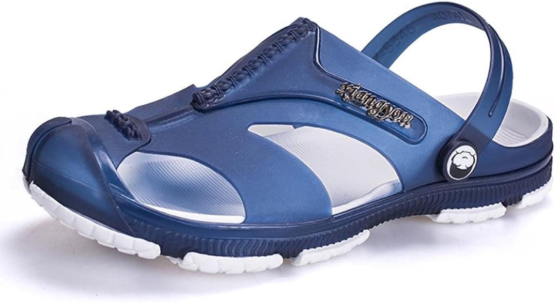 SHANGXIAN Unisex Slippers & Flip-Flops Summer Casual Flat Heel Others Black bluee Khaki Walking