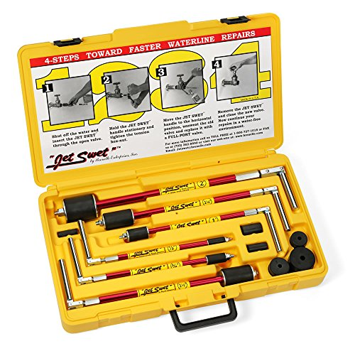 NEW Jet Swet 6800 Kit: Tools & Replacement Gaskets for the 1/2' to 2' Sized Pipes in a PVC Heavy Duty Carrying Case