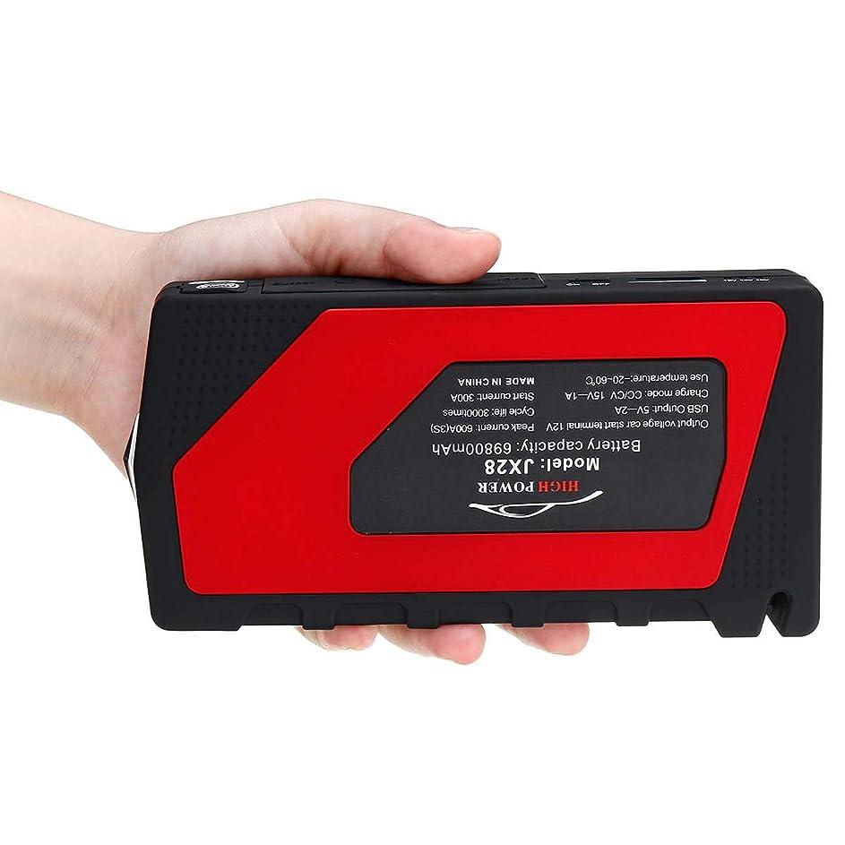 賃金歌手疑い者ポータブル12ボルト車のジャンプスターター緊急起動装置4 usb ledライトモバイル電源銀行車の充電器バッテリーブースター