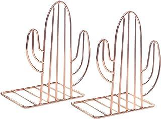 LIOOBO 1 par metall bokavslutar kaktus form bok stoppare skrivbord bok visningsställ för filmer Dvds tidningar tv-spel