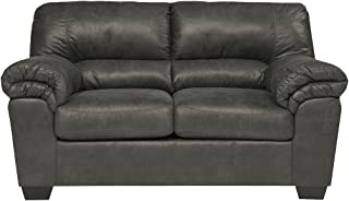 Signature Design by Ashley - Bladen Contemporary Plush Upholstered Loveseat, Slate Gray