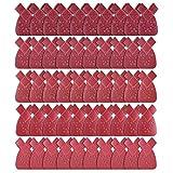 QQDEAL 50 Stück Schwalbenschwanz-Schleifblätter für Kaninchenohren, Schleifblätter mit 12 Löchern, Schleifpapier 40 60 80 120 240 Körnung Schleifpapier