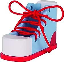 Goki- Learn-to Lace Shoe Juegos De Acción Y Reflejos,