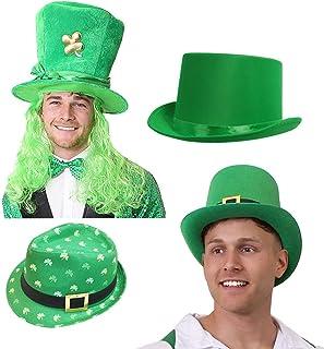 6 IN A PACK FANCY DRESS IRISH EIRE SHAMROCK CLOVER BOWLER HAT ST PATRICKS DAY