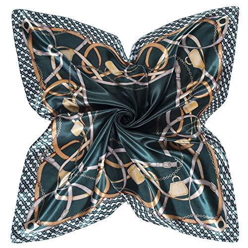 WEJNNI Imitatie zijden sjaal 90cm*90cm ketting riem dames bigsjaal