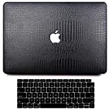 MacBook Pro 13 Inch Case 2020 2019 2018 2017 2016 Release M1 A2338 A2289 A2251 A2159 A1989 A1706 A1708, G JGOO PU Leather Hard Shell Case + Keyboard Cover Compatible with Mac Pro 13 Touch Bar, Black