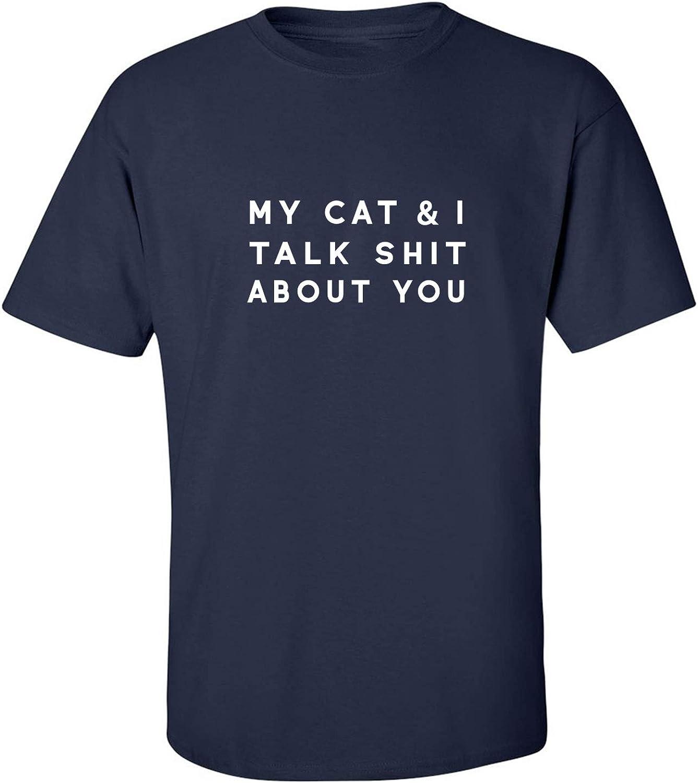 zerogravitee My Cat & I Talk Shit About You Adult Short Sleeve T-Shirt