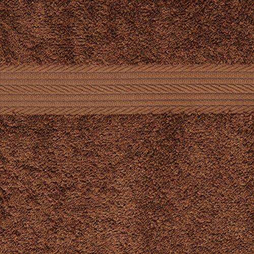 AmazonBasics - Juego de toallas (colores resistentes, 2 toallas de baño, 2 de manos y 2 para bidé), color marrón