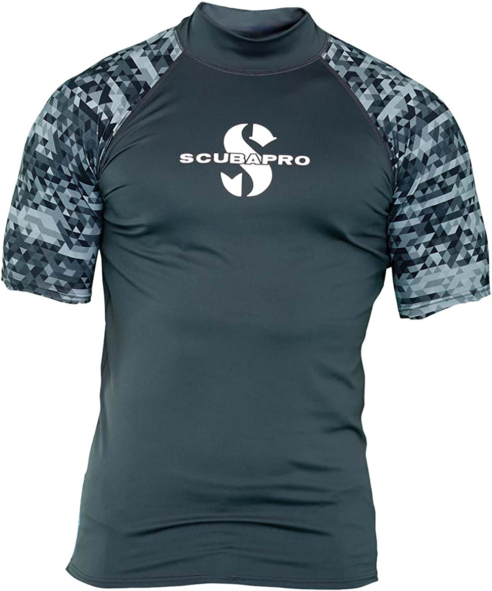 Scubapro Mens UPF 50 Short Sleeve Rash Guard