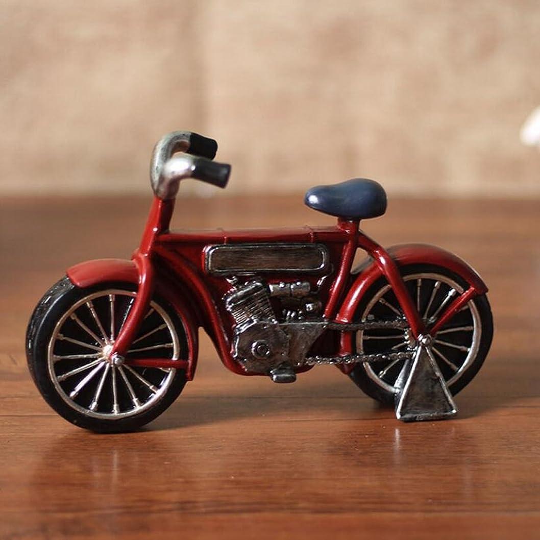 リップ冊子北極圏CHENGYI レトロ自転車モデル彫刻工芸品装飾クリエイティブリビングルームウィンドウレストランワインキャビネットコーヒーショップデコレーション、22 * 7 * 13cm (Color : Red)