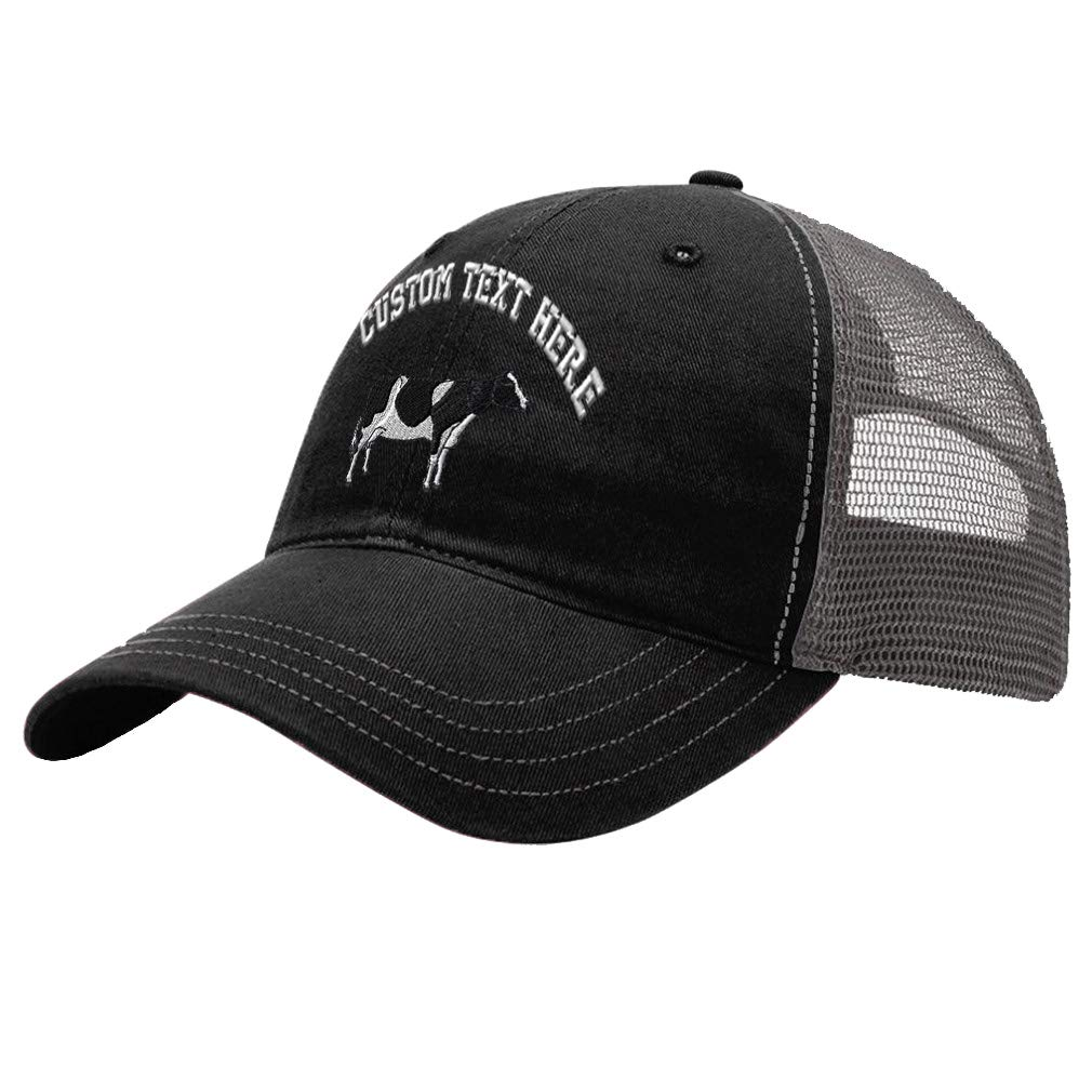 Custom Trucker Hat Richardson White Horse Embroidery Animal Name Cotton Snaps