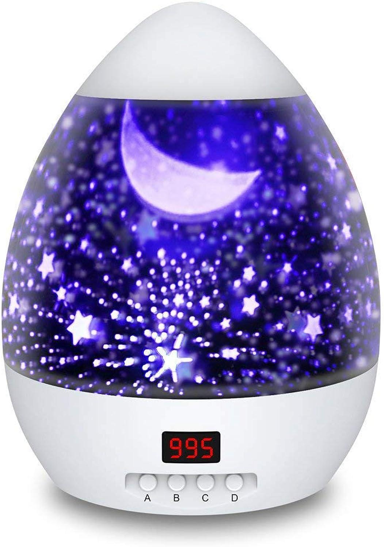 ZOUQILAI Sternprojektor LED Nachtlicht Stern Mond Bunte Rotierende USB Lichtfarbe Diamant Sternprojektor Kann für Baby Kinder zeitgesteuert Werden