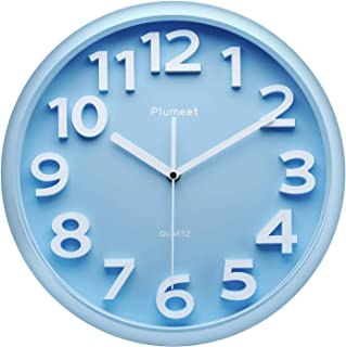 comprar comparacion Plumeet Reloj de Pared Grande de 33cm, Relojes Decorativos de Cuarzo silencioso Que no Hace tictac, Gran Pantalla de númer...