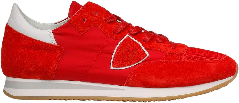 Philippe Philippe Philippe Model Herren TRLUW111 Rot Wildleder Sneakers B07N8KHYD4  19dabb