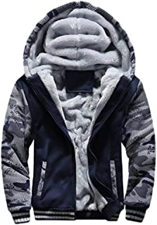 Howely Mens Fall Winter Plus-Size Athletic Hooded Fleece Thickened Sweatshirt