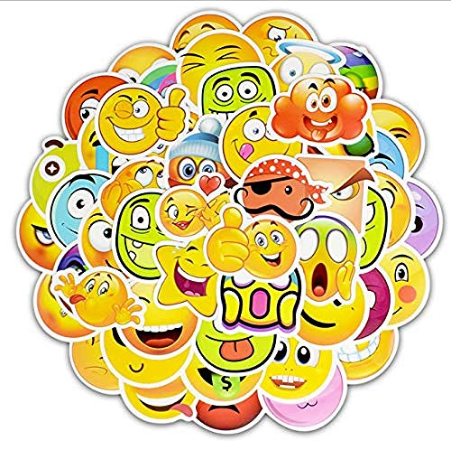 YRBB 50 stuks glimlach gezichtsuitdrukking emoji sticker voor dagboek fotoalbum beloning notebook schoolleraar verdienst lob decor