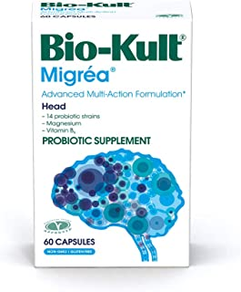 Bio-Kult Migréa Advanced Multi-Strain Probiotics with Magnesium Citrate & Vitamin B6, 60Count