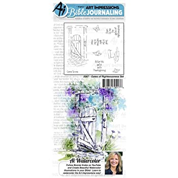 Art Impressions WC5069 Bible Journaling Watercolor Rubber Stamps-My Fortress