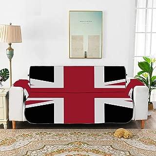 ZXWXNLA Union Jack Con Nero Della Bandi Chairs Slipcovers Sofa Seat Cushions Sofa Cushion Pad for 45