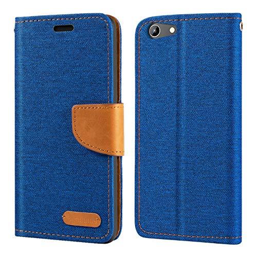 Doogee Y300 Hülle, Oxford Leder Wallet Hülle mit Soft TPU Back Cover Magnet Flip Hülle für Doogee Y300