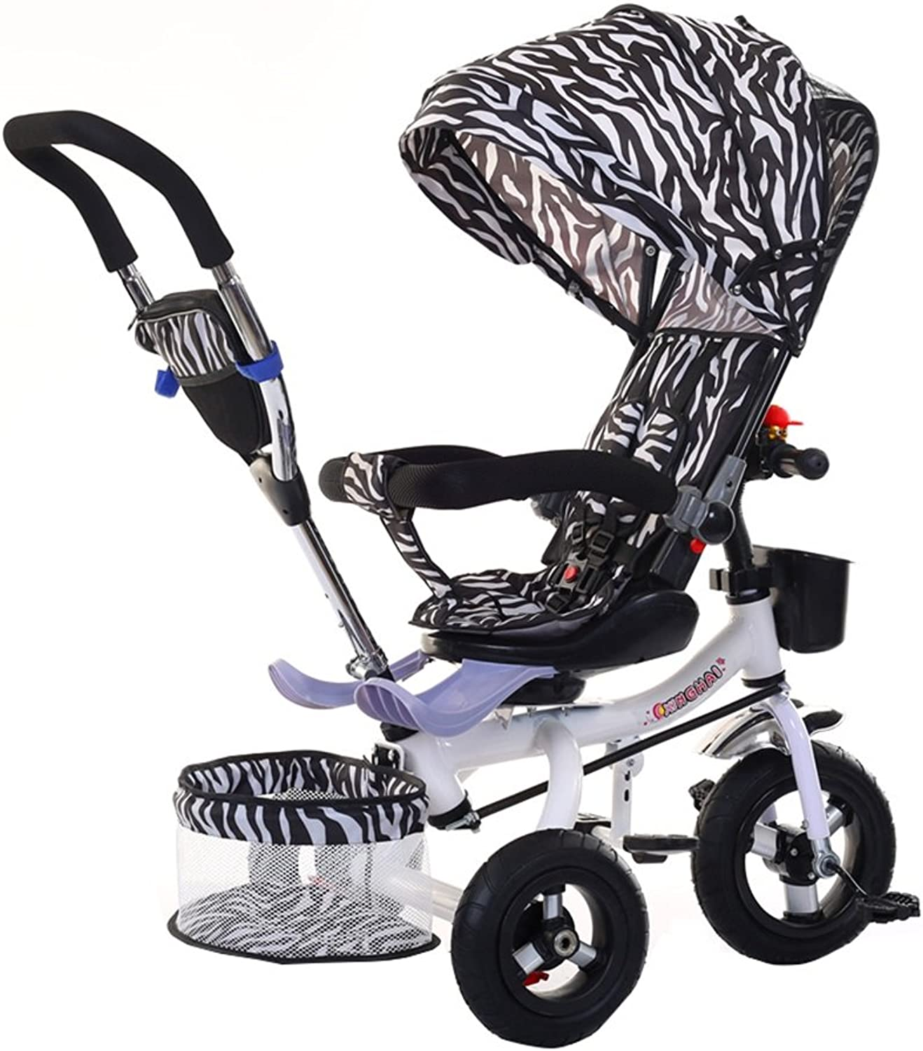 Kids' Tricycles Kids Tricycle Folding Bike Baby Baby Titanium Empty Wheel Inflatable Wheel Foam Wheel 16 Years Old Trolley Zebra Shed 20KG Kid's Outdoor Riding