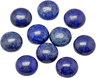 ARRICRAFT 50pcs Natural Undyed Natural Lapis Lazuli Half Round Cabochons Charming Beads for Jewelry Making