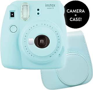 Fujifilm Instax Mini 9 Instant Print Camera - Renewed Bundle Instax Mini 9 Groovy Camera Case   Matching Colors for Case and Instax Mini 9 Camera (Ice Blue)