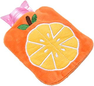 Hot Water Bag PVC Pain Relief Therapy Hot Water Bottle Reusable Hand Warmer with Soft and Comfortable Woven Cover(C. Detaz...