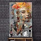Graffiti Kunst abstrakte Mädchen Leinwand Wandmalerei