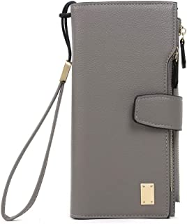 Long Bifold Wallets for Women PU Leather Purse Card Holder Coin Phone Holder Ladies Clutch Wallet