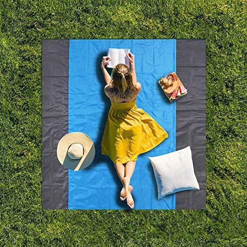 POWER BANKS Beach Blanket wasserdichte Strandmatte Sand Prävention Picknick-Matte Reisen Camping Wandern Beach Blanket 210Cmx200cm