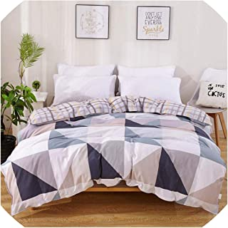 100% Cotton Duvet Cover Comforter/Quilt/Blanket Case 100% Cotton with Zipper Twin Full Queen King Double Single Size,2023528C,200X220Cm