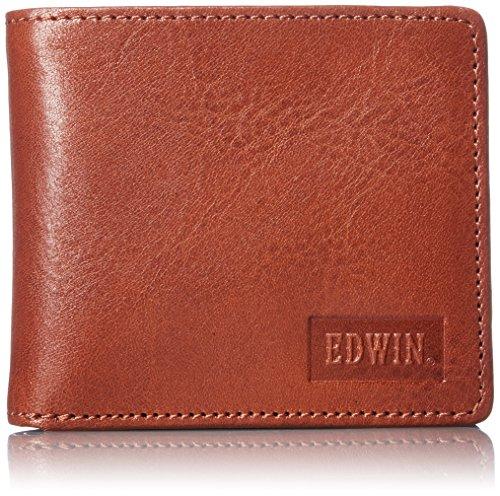 [エドウィン] 二つ折財布 イタリアンレザー エンボス 紙幣収納 小銭収納 カードポケット 22219021 27.ダークオレンジ