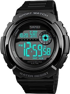 Men's Multifunction Quartz Digital Sport Watch Countdown Alarm EL Light Waterproof Watch for Men