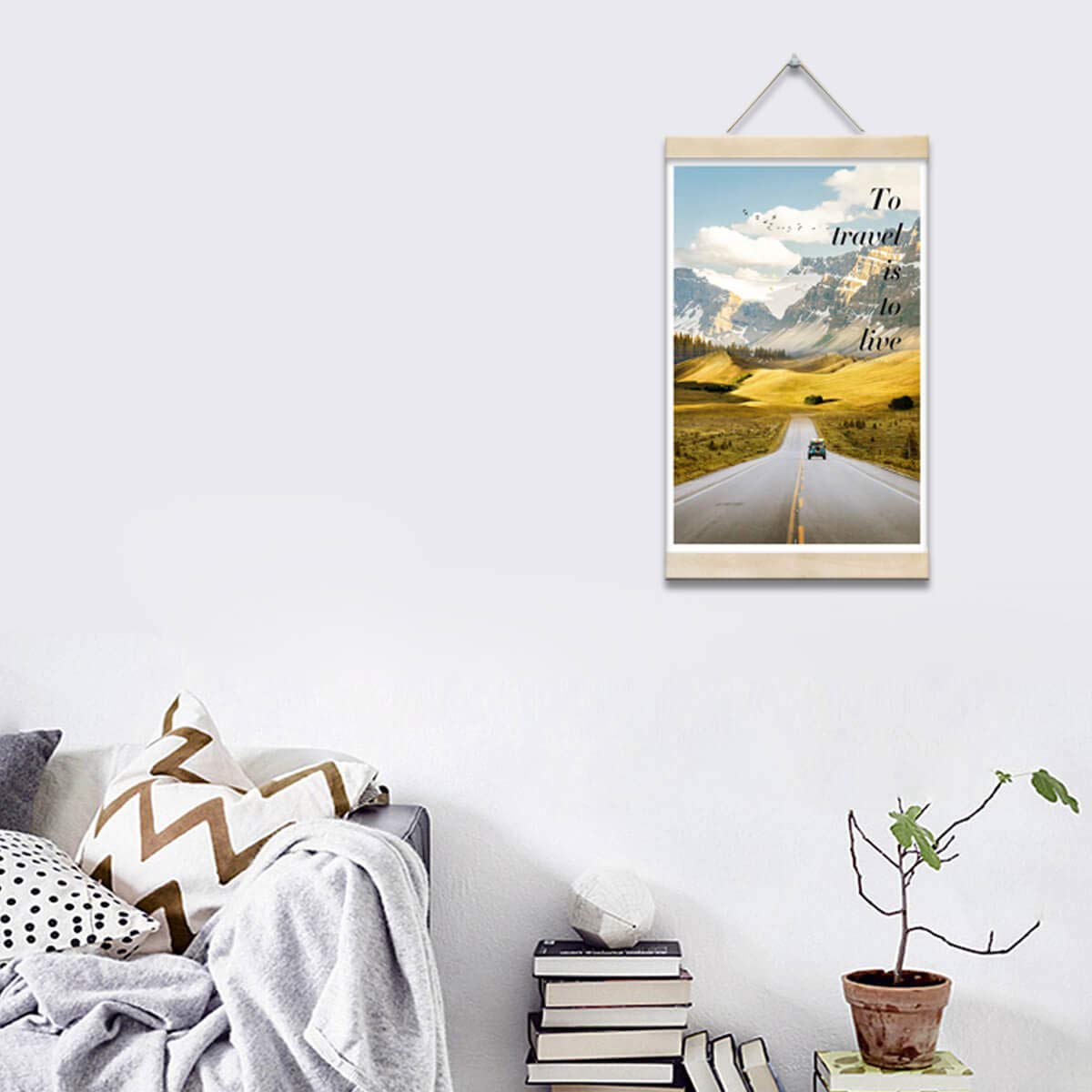 Bedroom Wall Decor Love Living Road Trip Photos Canvas Prints Travel Framed Wall Art Nature Gold Art Mountains Canvas Art Wall Pictures For Bathroom Prints Hanging Poster With Wood Frames 16x24inch Buy