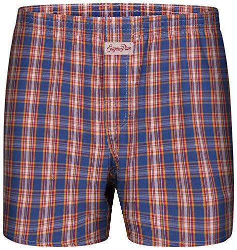 Sugar Pine - Locker geschnittene Web-Boxershorts für Herren mit klassischen Mustern - kariert - 100% Baumwolle - Größe M | 5 | 50 (2000-SPC-8105-M)