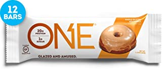 ONE Protein Bars, Maple Glazed Doughnut, Gluten Free Protein Bars with 20g Protein and only 1g Sugar, Guilt-Free Snacking for High Protein Diets, 2.12 oz (12 Pack)