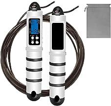 Springtouw, instelbare lengte Speed Jump Rope met multifunctioneel digitaal, calorieënteller, fitness timing alarm, led-gewichtsverlies voor sport, beweging, training, boksen, MMA, fitnessstudio