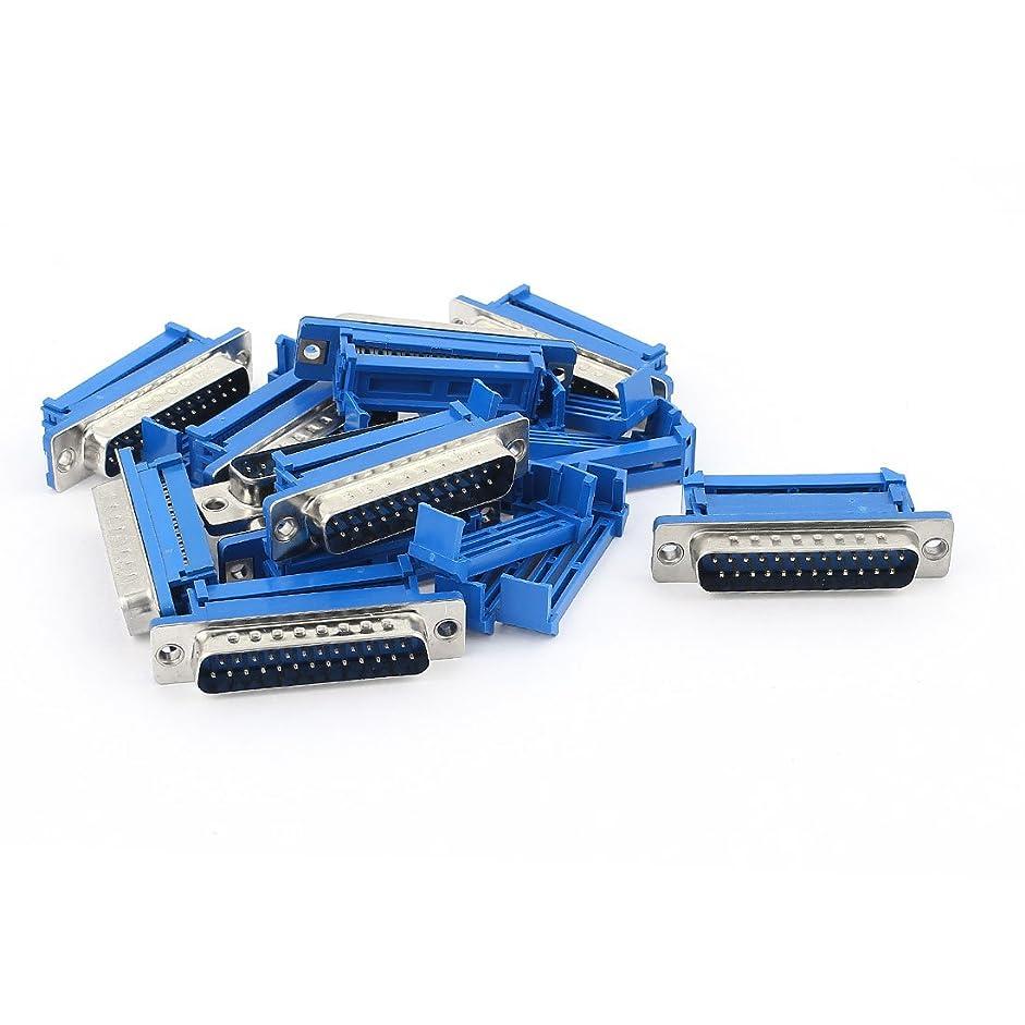 ヘッドレス克服する破壊するuxcell IDCプラグ フラットリボンケーブルコネクタ パラレルポート D-SUB DB25 25ピン オス 10個