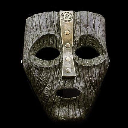 Dio del Male Loki Casco Maschera di Resina di Halloween di Carnevale Ornamenti Decorazioni Artigianato Cosplay Prank Puntelli per Adulti Spettacolo da Bar Masquerade Show Replica Fancy Dress,Green~a
