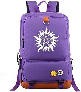 Asdfnfa Backpack, Casual Men and Women 20-35L Large Capacity Travel Bag Computer Knapsack Student School Bag (Color : Purple)