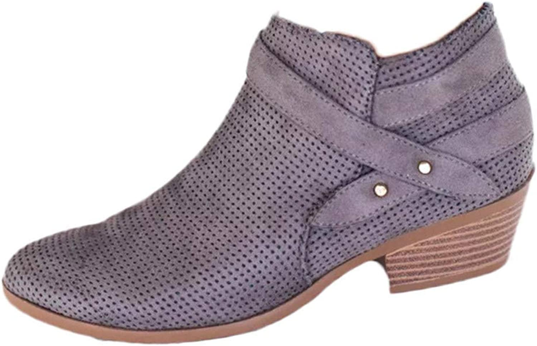 ZHRUI Schuhe Damen Stiefel Freizeitschuhe Winterstiefel Stiefeletten Kurze Stiefel Frauen Damenmode Ankle Solid Gestrickte Flock Martin Schuhe Kurze Stiefel Stiefelie (Farbe   Grau, Gre   42 EU)