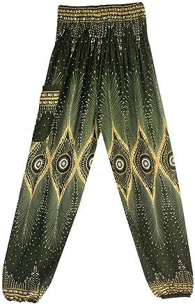 Yoga Pantalons, Xinantime Hommes Femmes Thai Harem Pantalons Boho Festival  Hippy Smock Taille Haute Pantalon